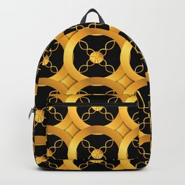 Luxurious Art Deco-Like Pattern: Casino Gold Coins Design Backpack