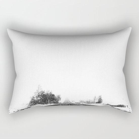 SNOW - WHITE - ROAD - WAY - TRIP - ADVENTURE Rectangular Pillow