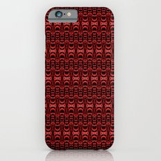 Dividers 07 in Red over Black Slim Case iPhone 6s