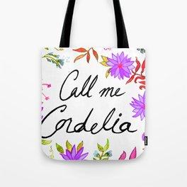 Call Me Cordelia - Purple Flowers Tote Bag