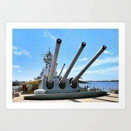 Bringing Out The Big Guns Art Print