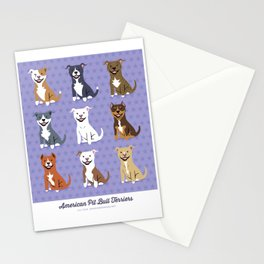 American PIT BULL TERRIERS Stationery Cards