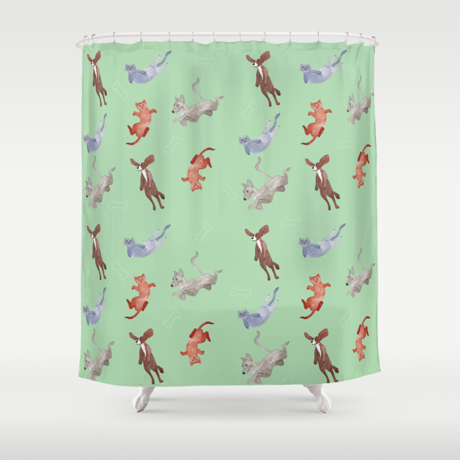 It S Raining Cats And Dogs Shower Curtain By Effebi Society6