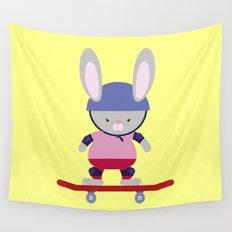 Bunny Skater Wall Tapestry
