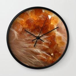 Soft Citrine Wall Clock