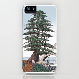 CEDAR OF LEBANON PEN AND PENCIL DRAWING iPhone Case