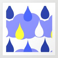 Teardrops from the Sky Art Print