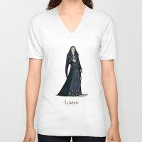 valar morghulis V-neck T-shirts featuring Lorien by wolfanita