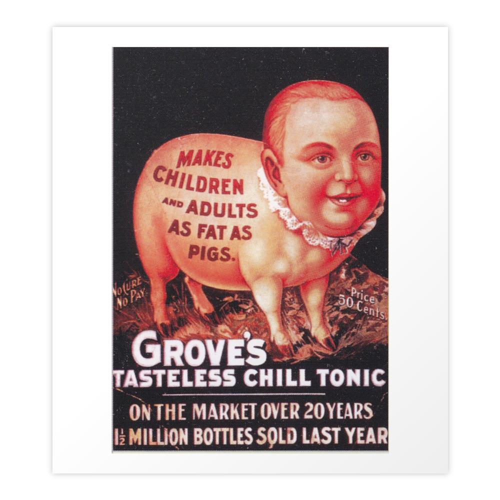 Grove's Tasteless Tonic Art Print by timpangburn (PRN9453837) photo