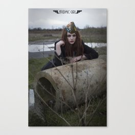 Alone in the Wasteland Pin-up 3 Canvas Print