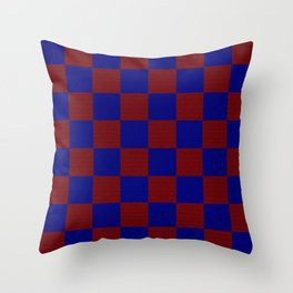 Red & Blue Square Throw Pillow