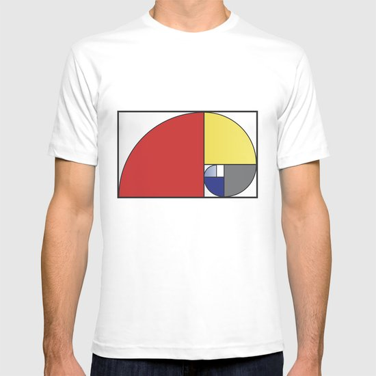 Mondrian vs Fibonacci T-shirt