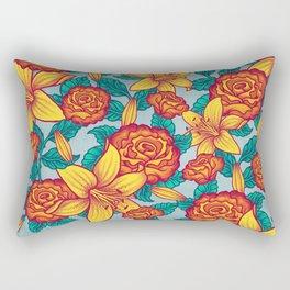 Flowers - Red Rectangular Pillow
