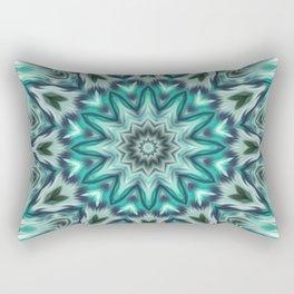 Mandala, Cold morning Rectangular Pillow