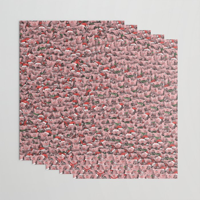 Christmas pigs Wrapping Paper