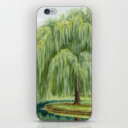 Under The Willow Tree by Sarah Batalka iPhone Skin