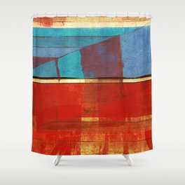 "Literatura de cordel  ""A Chegada de Lampião no Céu""(The Arrival of ""Lampião"" in Heaven) Shower Curtain"