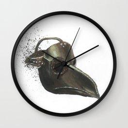 Plague Doctor - Empty Masks Wall Clock