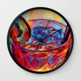 Cocktail Watercolor Wall Clock