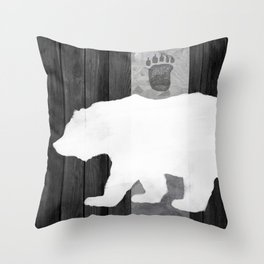 White Bear Throw Pillow