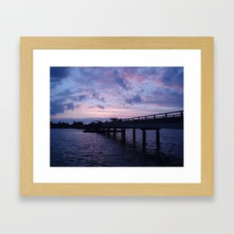 Sunset at the Baltic Sea Framed Art Print