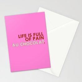 PAIN AU CHOCOLAT. Stationery Cards