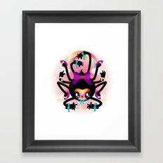 Crafty spider Framed Art Print