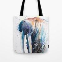 walrus Tote Bags featuring Walrus by Slaveika Aladjova