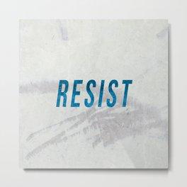 RESIST 2.0 - Blue #resistance Metal Print