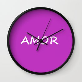 Amor, Spanish Love Wall Clock