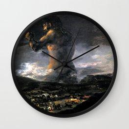 """Francisco Goya """"The Colossus"""" Wall Clock"""
