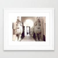 giants Framed Art Prints featuring giants by jenny mckinnon