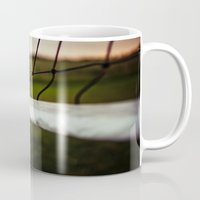 volleyball Mugs featuring Volleyball Net by Jo Bekah Photography