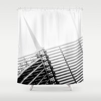 milwaukee Shower Curtains featuring Milwaukee Art Museum by Alaina Abplanalp