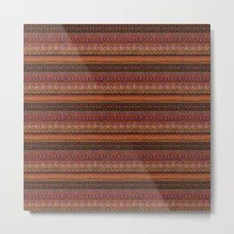 African Mud Cloth Inspired Pattern Metal Print