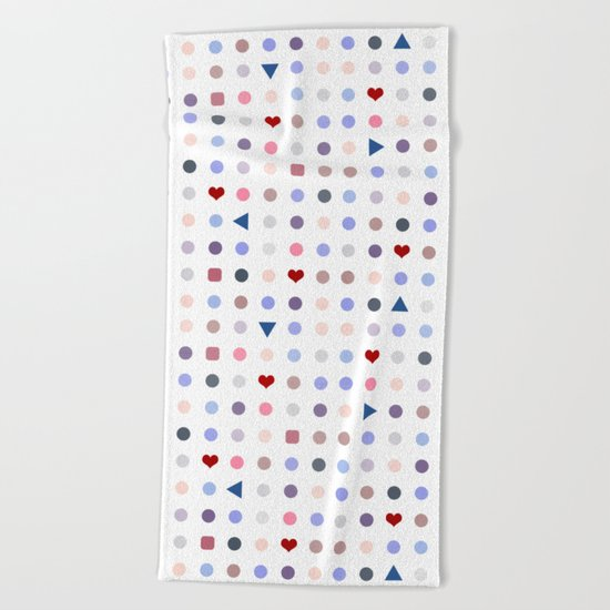 Arcade Pattern Beach Towel