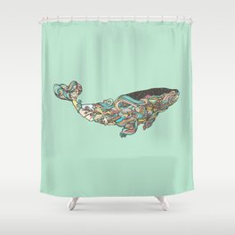 The 52 hertz whale Shower Curtain