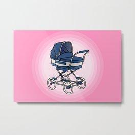 Bay stroller / buggy Metal Print