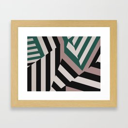 ASDIC/SONAR Dazzle Camouflage Graphic Design Framed Art Print