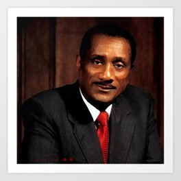 John H. Johnson - African American Businessmen Of The Century Art Art Print