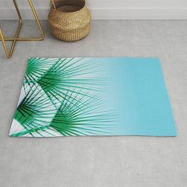 Airhead - memphis throwback retro vintage ombre blue palm springs socal california dreamer pop art Rug