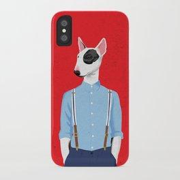 Skinhead Bull Terrier iPhone Case