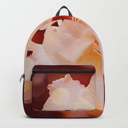 Sword Lily Red Bokeh Backpack