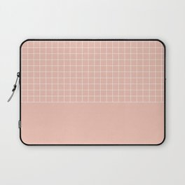 White grid on pale pink Laptop Sleeve