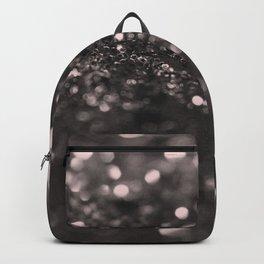 Blush Gray Black Lady Glitter #1 #shiny #decor #art #society6 Backpack