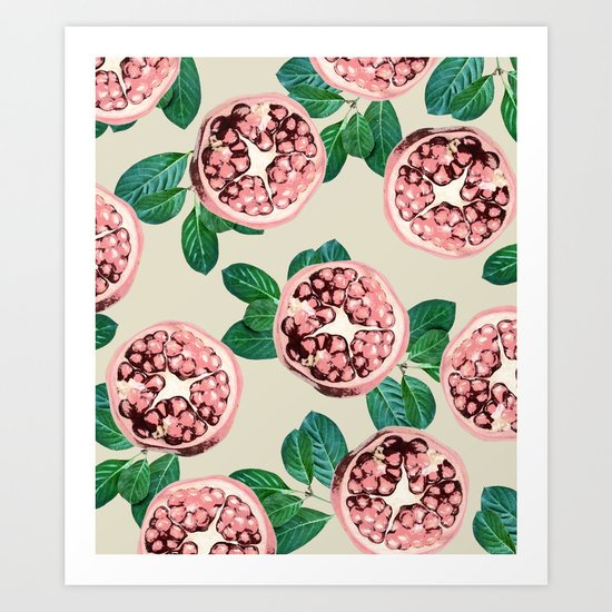 Pomegranate V2 #society6 #decor #buyart Art Print