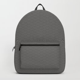 Pantone Pewter Multi Striped Tiny Scallop Wave Pattern Backpack