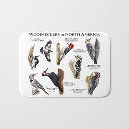 Woodpeckers of North America Bath Mat
