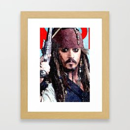 Jack Sparrow Framed Art Print