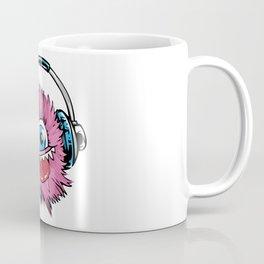 Music Monster With Headphones Coffee Mug